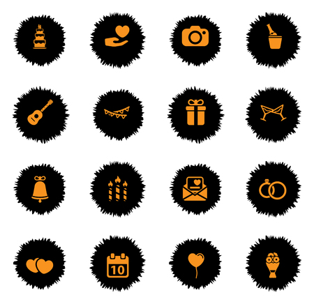 wedding cake: Wedding  vector icons for web sites and user interface