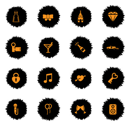wedding dress: Wedding  vector icons for web sites and user interface