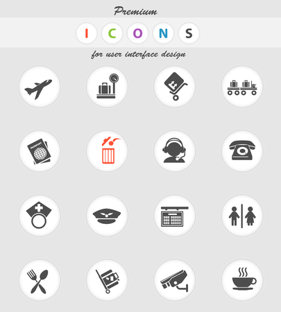 security icon: Airport icon for web sites and user interface