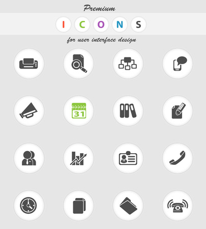 note pad and pen: Business icons set for web sites and user interface Illustration