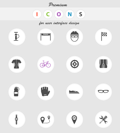 bycicle: Bycicle vector icons for web sites and user interface