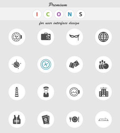 lifejacket: Cruise  vector icons for web sites and user interface