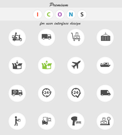 Delivery  vector icons for web sites and user interface Illustration