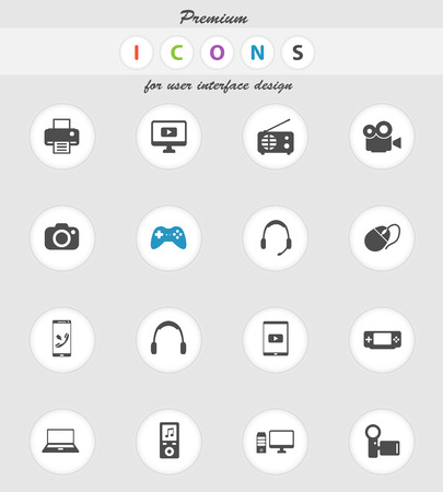 portable console: Gadgets  vector icons for web sites and user interface