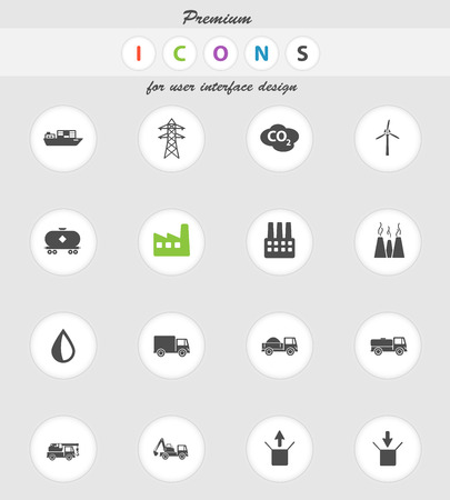 tank ship: Industrial  vector icons for web sites and user interface Illustration