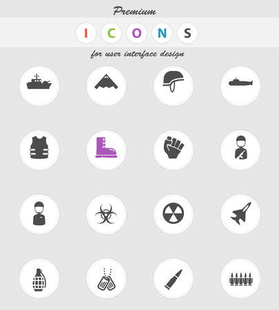 biological hazards: Military  vector icons for web sites and user interface Illustration