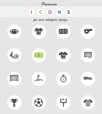football trophy: Football vector icons for web sites and user interface Illustration