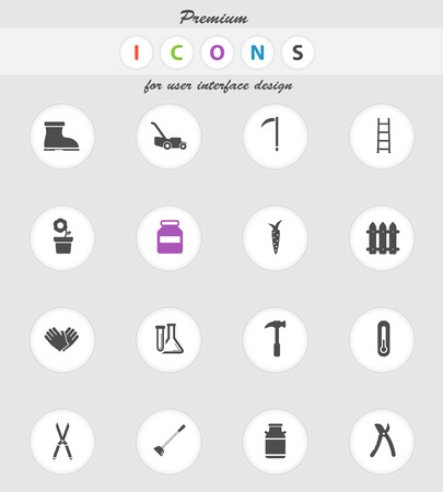ladder  fence: Garden tools  vector icons for web sites and user interface