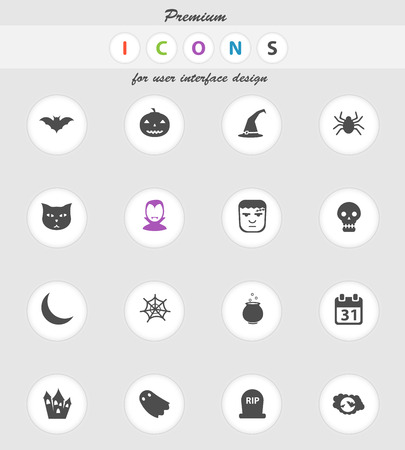 abandoned house: Halloween vector icons for web sites and user interface Illustration