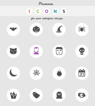 calabaza: Iconos vectoriales de Halloween para los sitios web y la interfaz de usuario