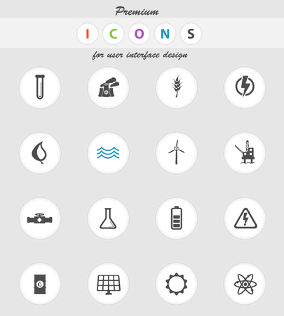 power generation: Power generation  vector icons for web sites and user interface