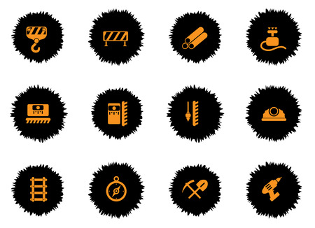 railings: Building equipment icons set for web sites and user interface
