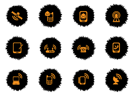 telecommunications equipment: Mobile icon for web sites and user interface