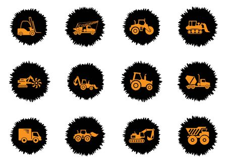 mover: Construction Machines color icon for web sites and user interface Illustration