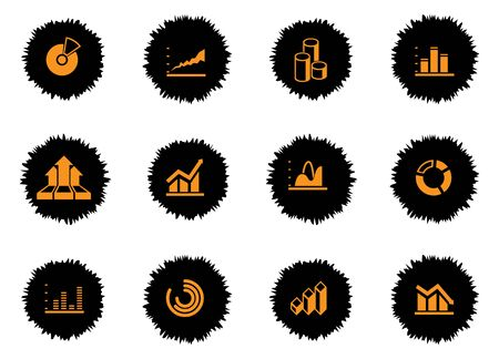 Information graphic simply symbol for web icons Illustration