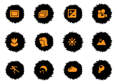 backlit: Photography icons set for web sites and user interface