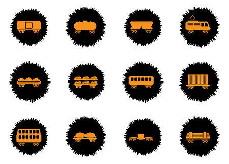 storage tank: rail-freight traffic vector icons for web sites and user interface Illustration