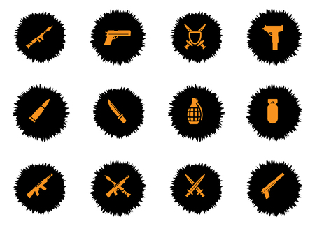 frag: Weapon vector icons for web sites and user interface