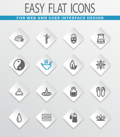papering: Spa easy flat web icons for user interface design Illustration
