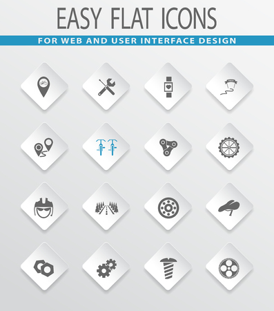 biking glove: Bicycle easy flat web icons for user interface design Illustration