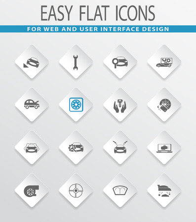 elimination: Car shop easy flat web icons for user interface design
