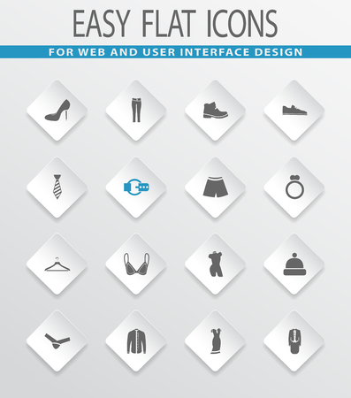 button down shirt: Clothes easy flat web icons for user interface design