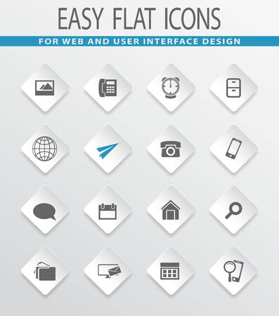 telephone icon: Contact easy flat web icons for user interface design