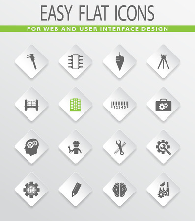 civil engineers: Engineering easy flat web icons for user interface design