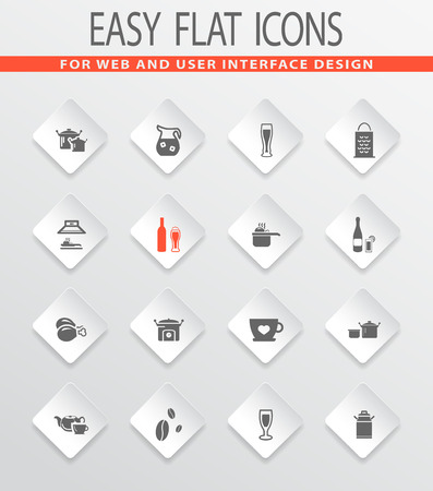 extractor hood: Food and kitchen easy flat web icons for user interface design