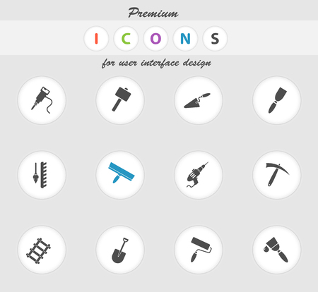 platen: Building equipment icons set for web sites and user interface