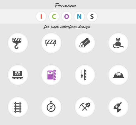 detonator: Building equipment icons set for web sites and user interface
