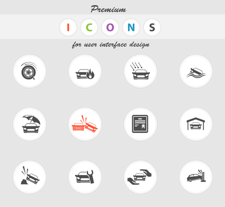 hailstone: Car Insurance color icon for web sites and user interface