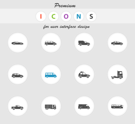 mini bus: Vehicles color icon for web sites and user interface
