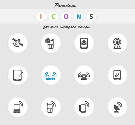 wireless hot spot: Mobile icon for web sites and user interface