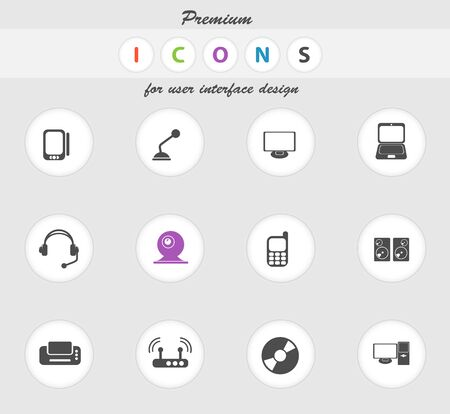 earbud: Media icon for web sites and user interface