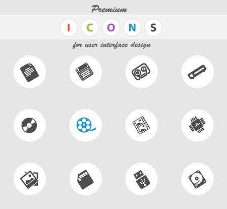 analytic: Data analytic icons set for web sites and user interface