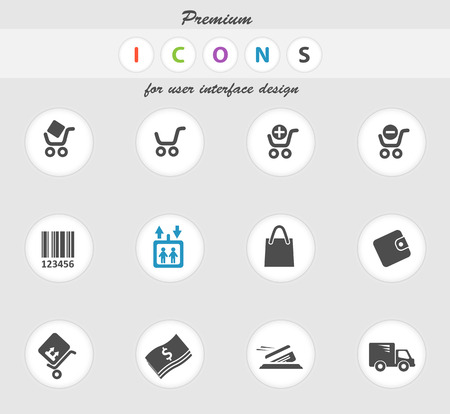 removing: Shopping icon for web sites and user interface