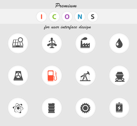 coal power station: Energy and Industry icon for web sites and user interface