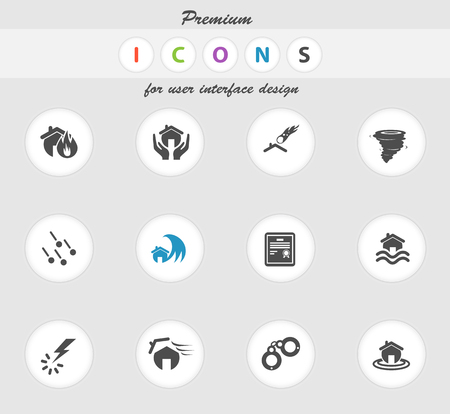 hailstone: Home Insurance icon for web sites and user interface Illustration