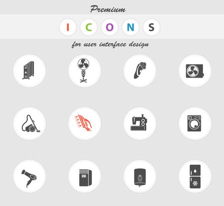 Home Appliances icons set pour les sites Web et l'interface utilisateur