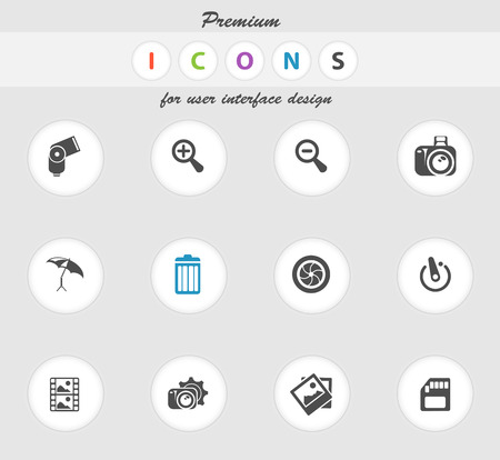 conformity: Photography icons set for web sites and user interface
