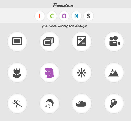 photography icons: Photography icons set for web sites and user interface