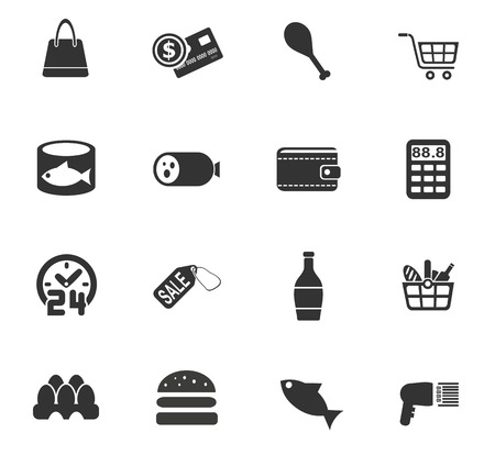 wine register: grocery store web icons for user interface design