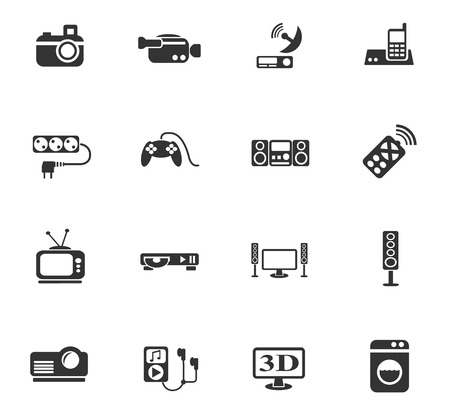 home appliances: home appliances web icons for user interface design