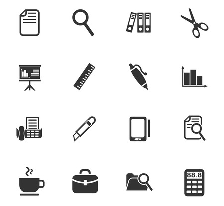 office web icons for user interface design