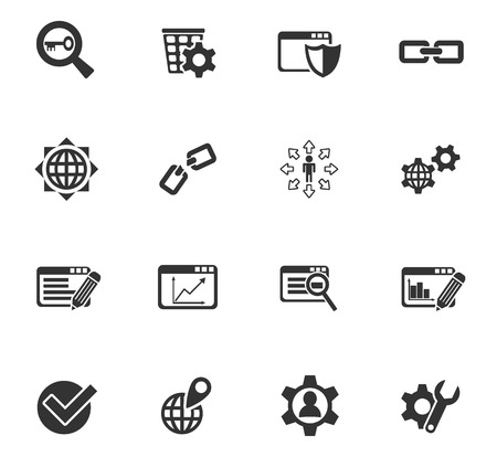 keyword research: seo and development web icons for user interface design