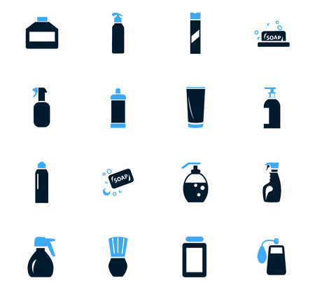 Household chemicals icon set for web sites and user interface Illustration