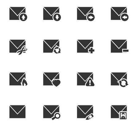 mail icon: Mail and envelope icon set for web sites and user interface