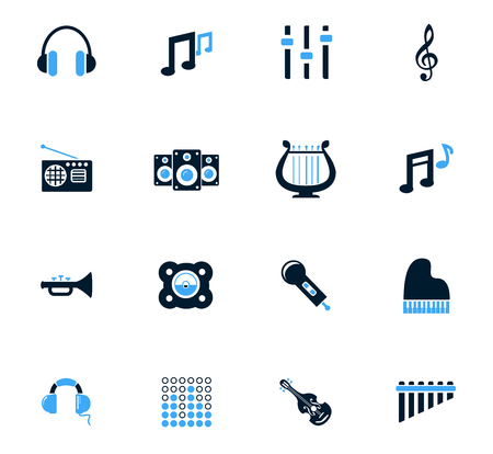 disk jockey: Music  icon set for web sites and user interface