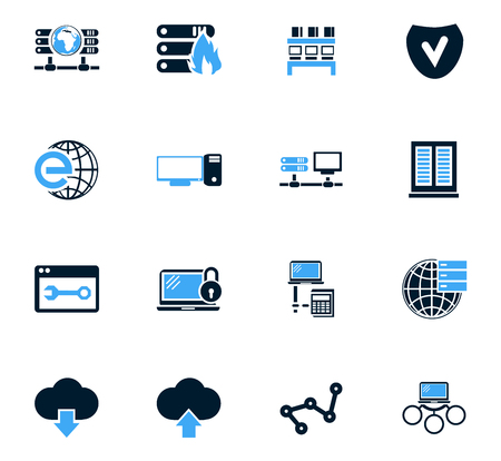 shrugged: Internet, server, network icon set for web sites and user interface